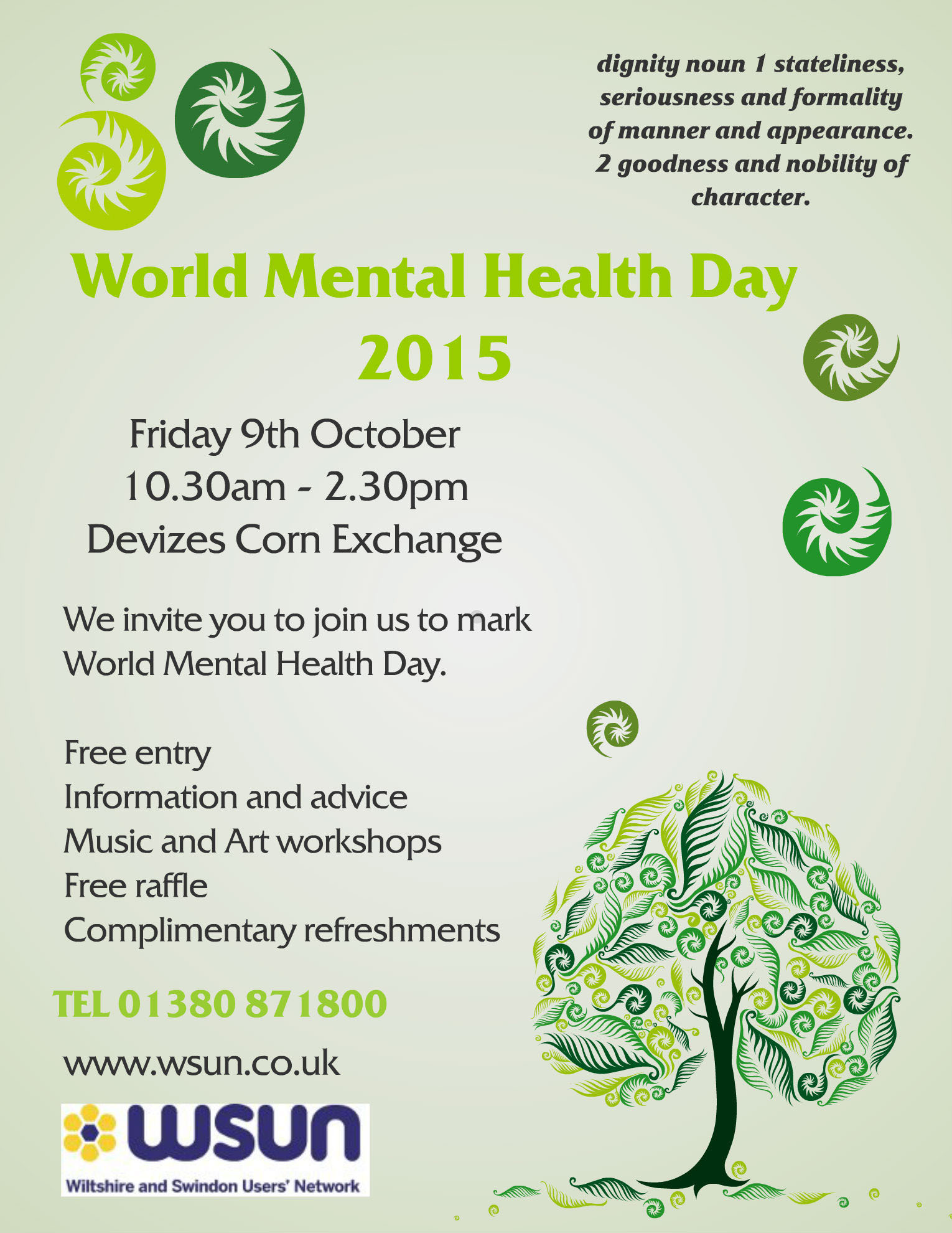 wsun world mental health day 9th october 2015